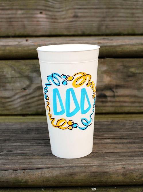 Tri Delta Confetti Cup