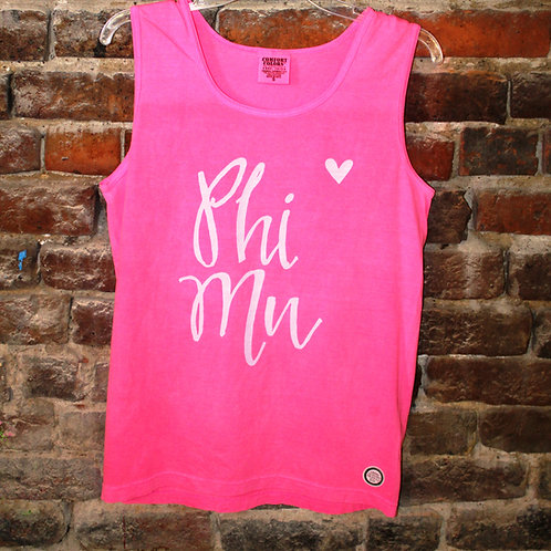 Phi Mu Heart Tanks
