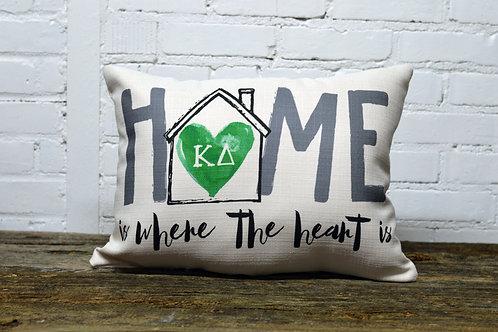 Kappa Delta Heart Pillow