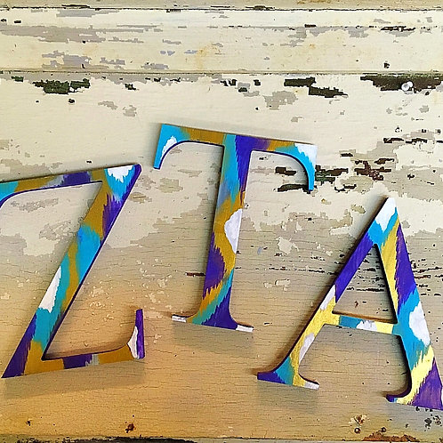Zeta Tau Alpha Sorority Dye Cut Letters