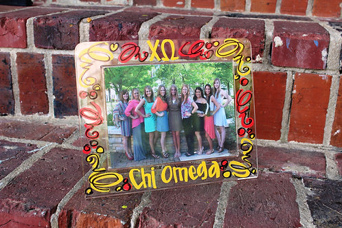 Chi Omega Acrylic Picture Frame