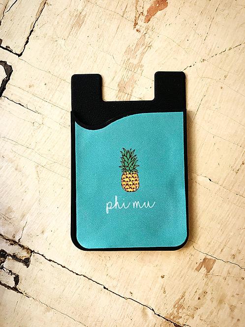 Phi Mu Pineapple Phone Sleeve