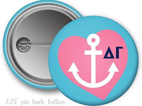 Delta Gamma Heart Pin Button