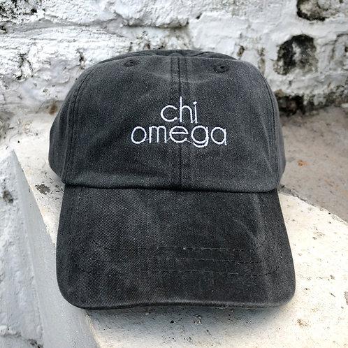 Chi Omega Grey Block Hat