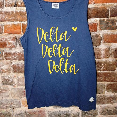 Tri Delta Heart Tank