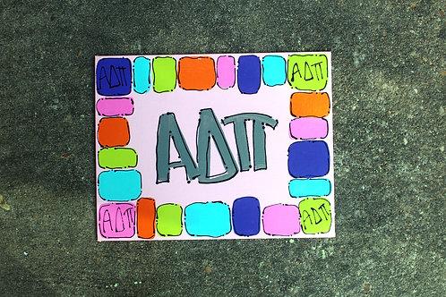 Alpha Delta Pi Happy Canvas