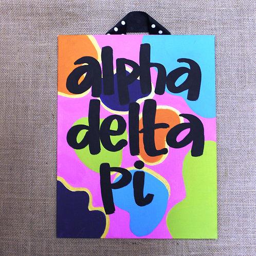 Alpha Delta Pi Fun & Funky Canvas