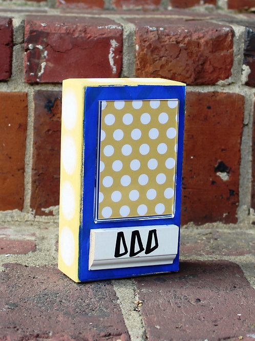 Tri Delta Small Patterned Frame