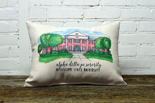 Alpha Delta Pi Sorority House Pillow