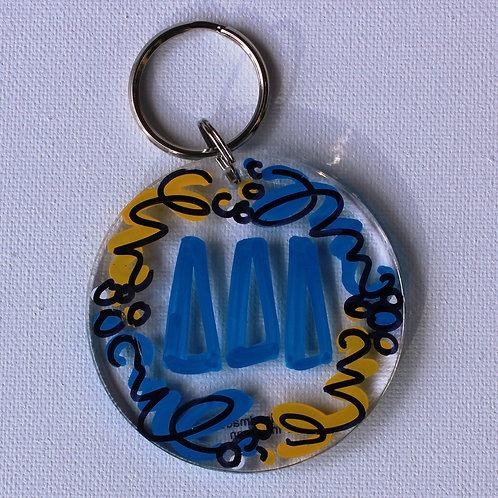 Tri Delta Acrylic Keychain
