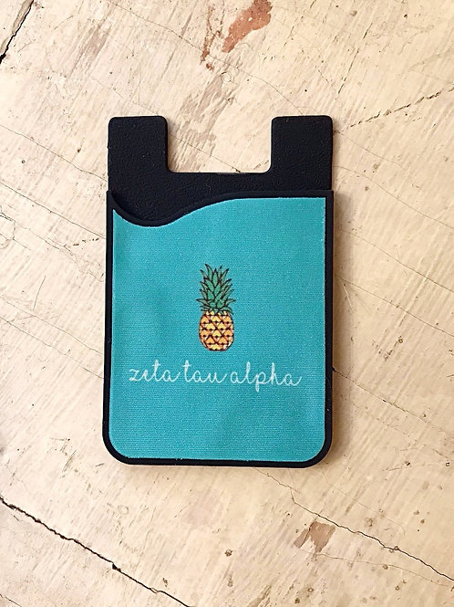 Zeta Tau Alpha Pineapple Phone Sleeve