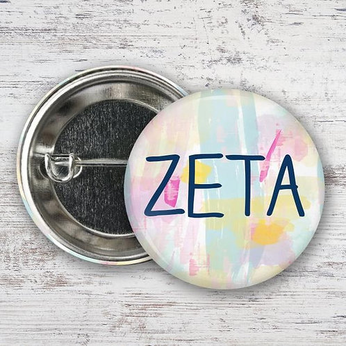 Zeta Tau Alpha Watercolor Pin
