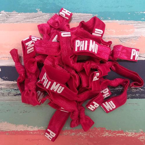 Phi Mu Hair Tie