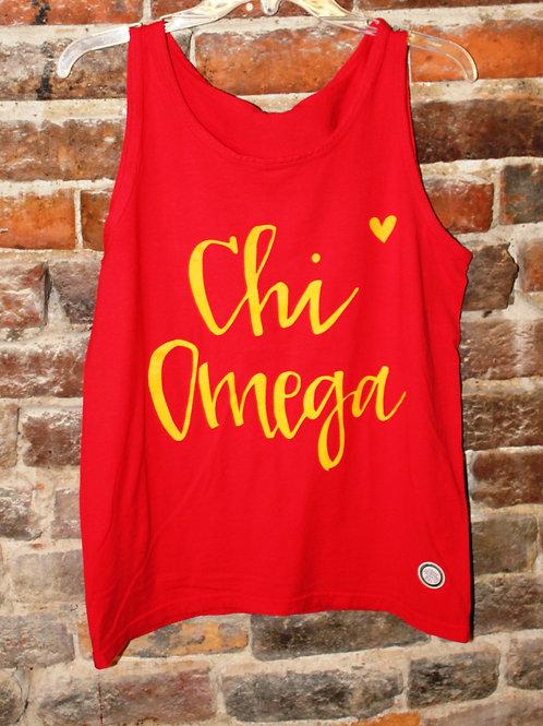 Chi Omega Heart Tank
