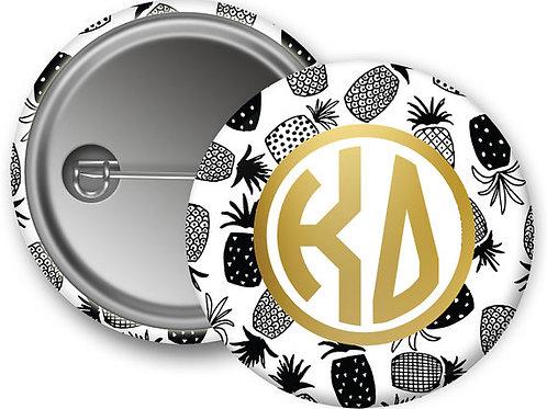 Kappa Delta Gold Pineapple Pin Button