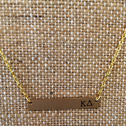 Kappa Delta Bar Necklace