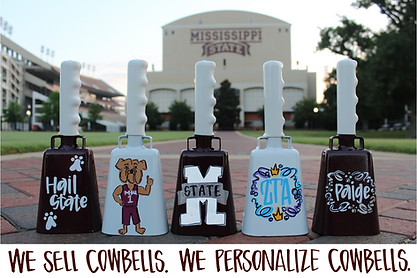 We sell cowbells. We personalize cowbells.