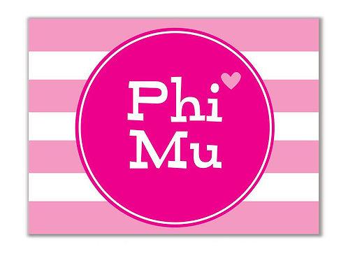 Phi Mu Stationary