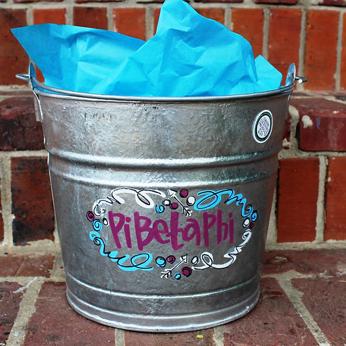 Pi Beta Phi Galvanized Bucket