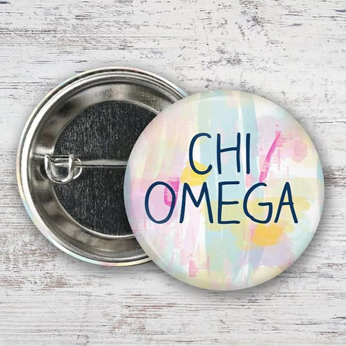 Chi Omega Water Color Pin
