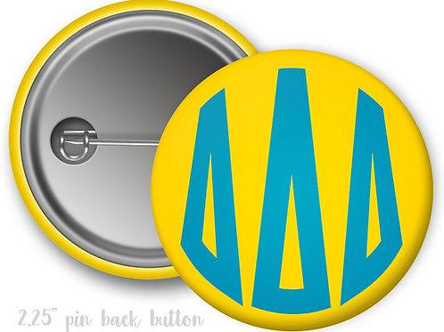 Tri Delta Monogram Pin Button