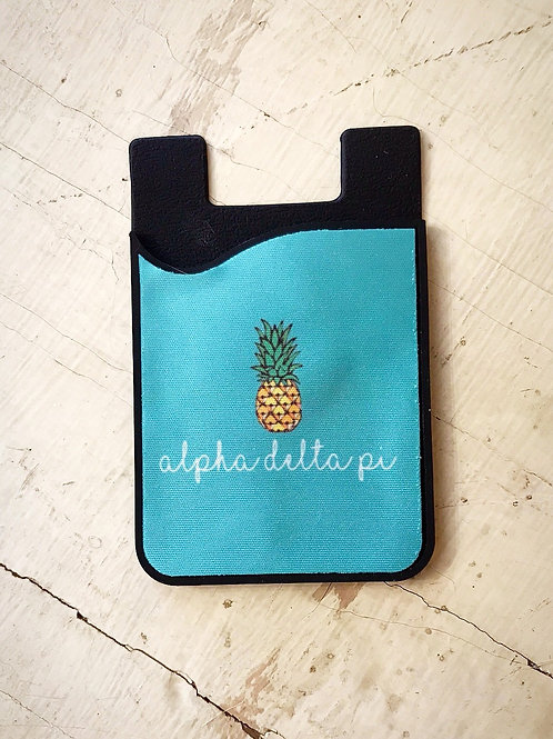 Alpha Delta Pi Pineapple Phone Sleeve