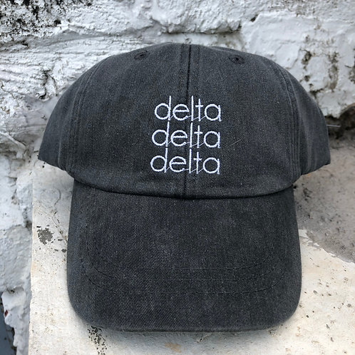 Tri Delta Grey Block Hat
