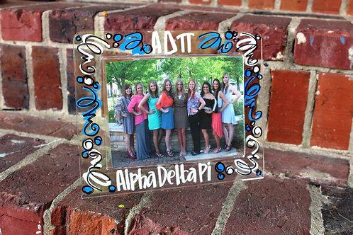 Alpha Delta Pi Acrylic Picture Frame