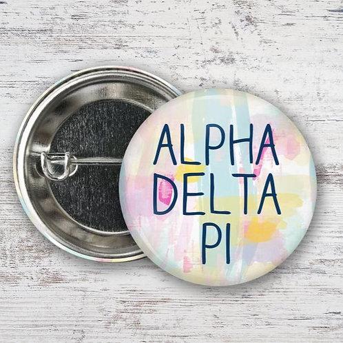 Alpha Delta Pi Water Color Pin