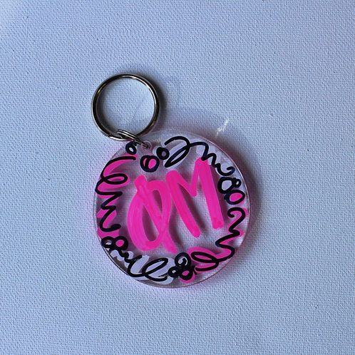 Phi Mu Acrylic Key Chain