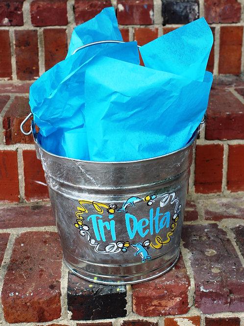 Tri Delta Galvanized Bucket