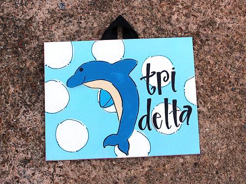 Tri Delta Mascot Canvas