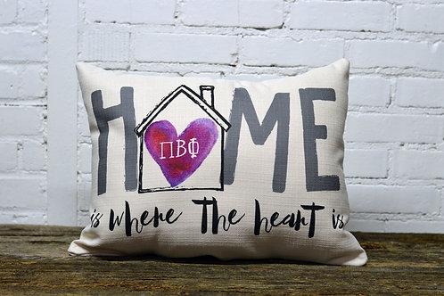 Pi Beta Phi Heart Pillow