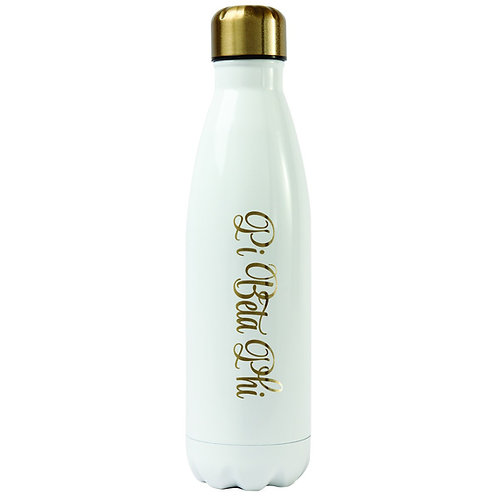 Pi Beta Phi Gold & White Water Bottle