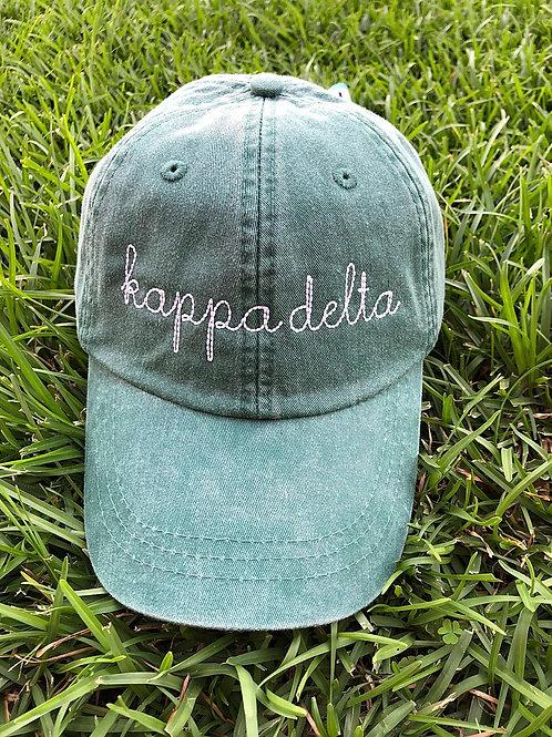 Kappa Delta Sorority Script Hat