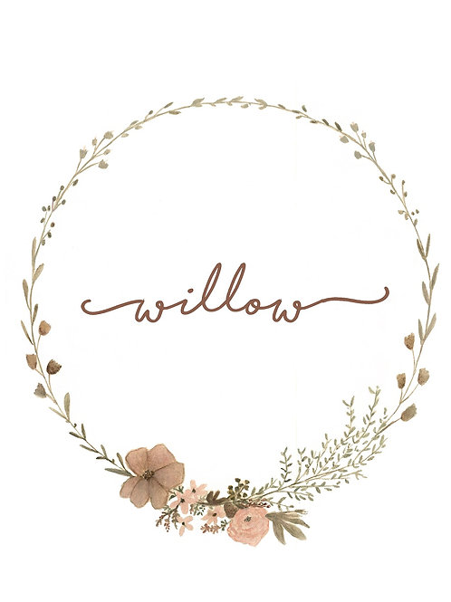 Wildflower Name Wreath