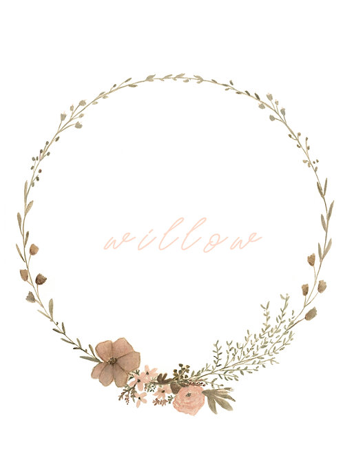 Wildflower Name Wreath