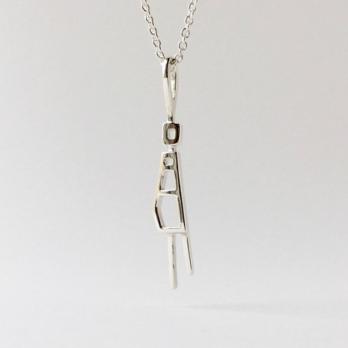 Silver Mod Mom Pendant