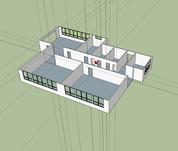 Here it is about halfway through. This was my first SketchUp project. It's a pretty straightforward program, but nothing at all like Tinkercad.