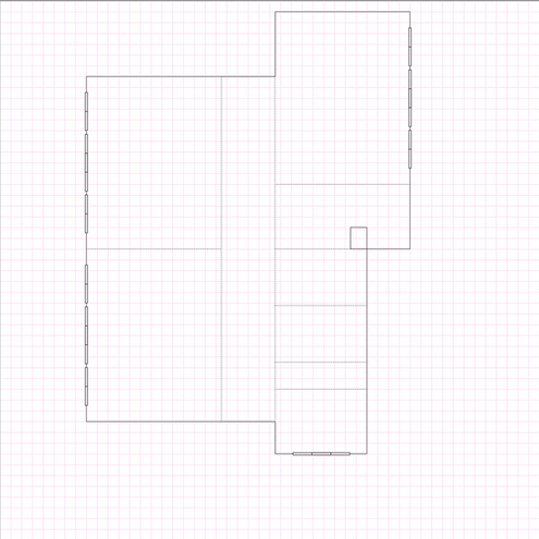 I first worked out the measurements and layout (as best I could tell from my photos. I should've ventured all the way in...) in Affinity Designer.