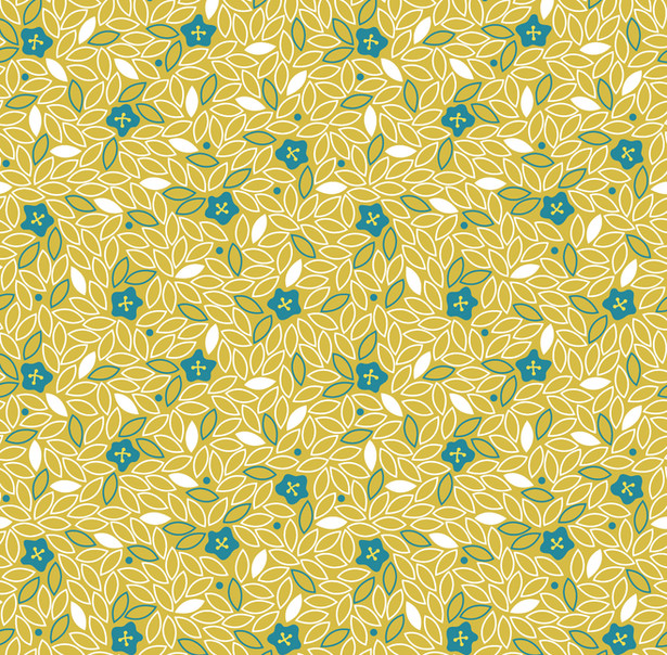 Ditsy Buttons, Olive