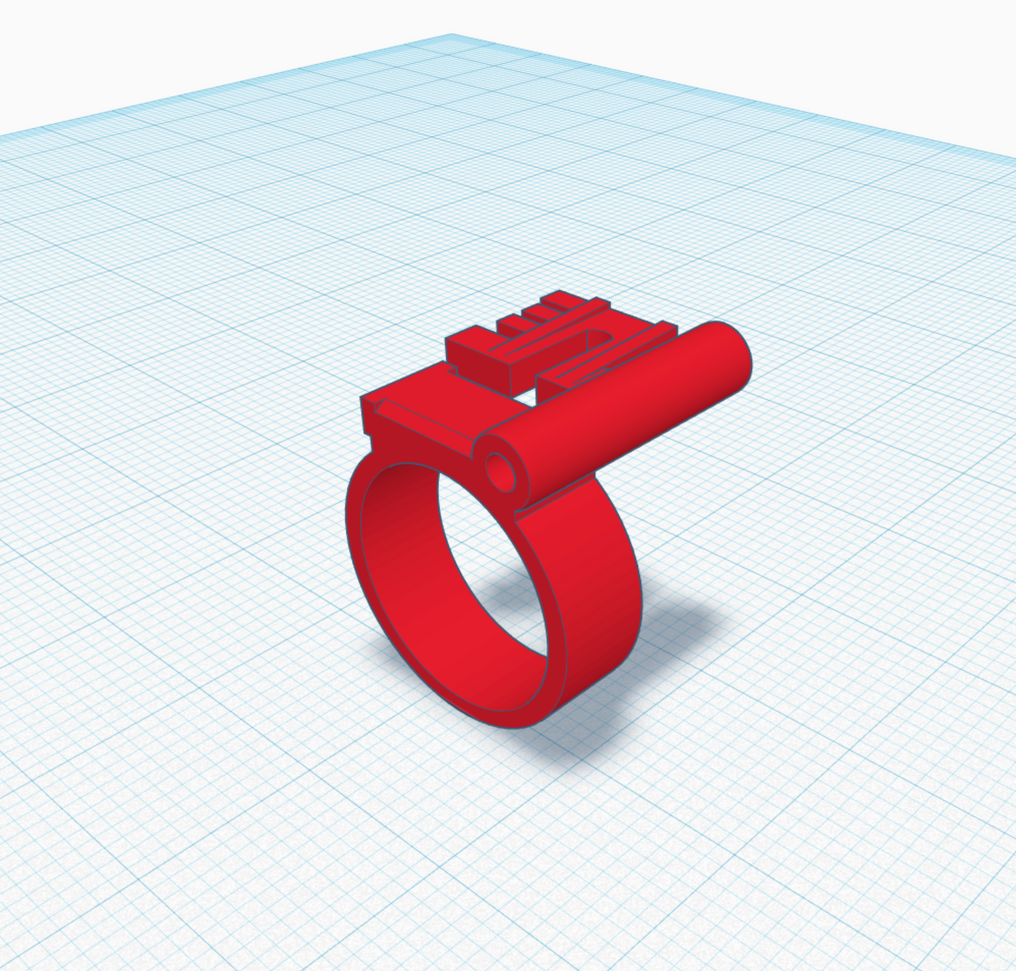 I was still using Tinkercad at this point, which worked really well for this design as it was mostly cylinders and cuboids. Easy peasy.