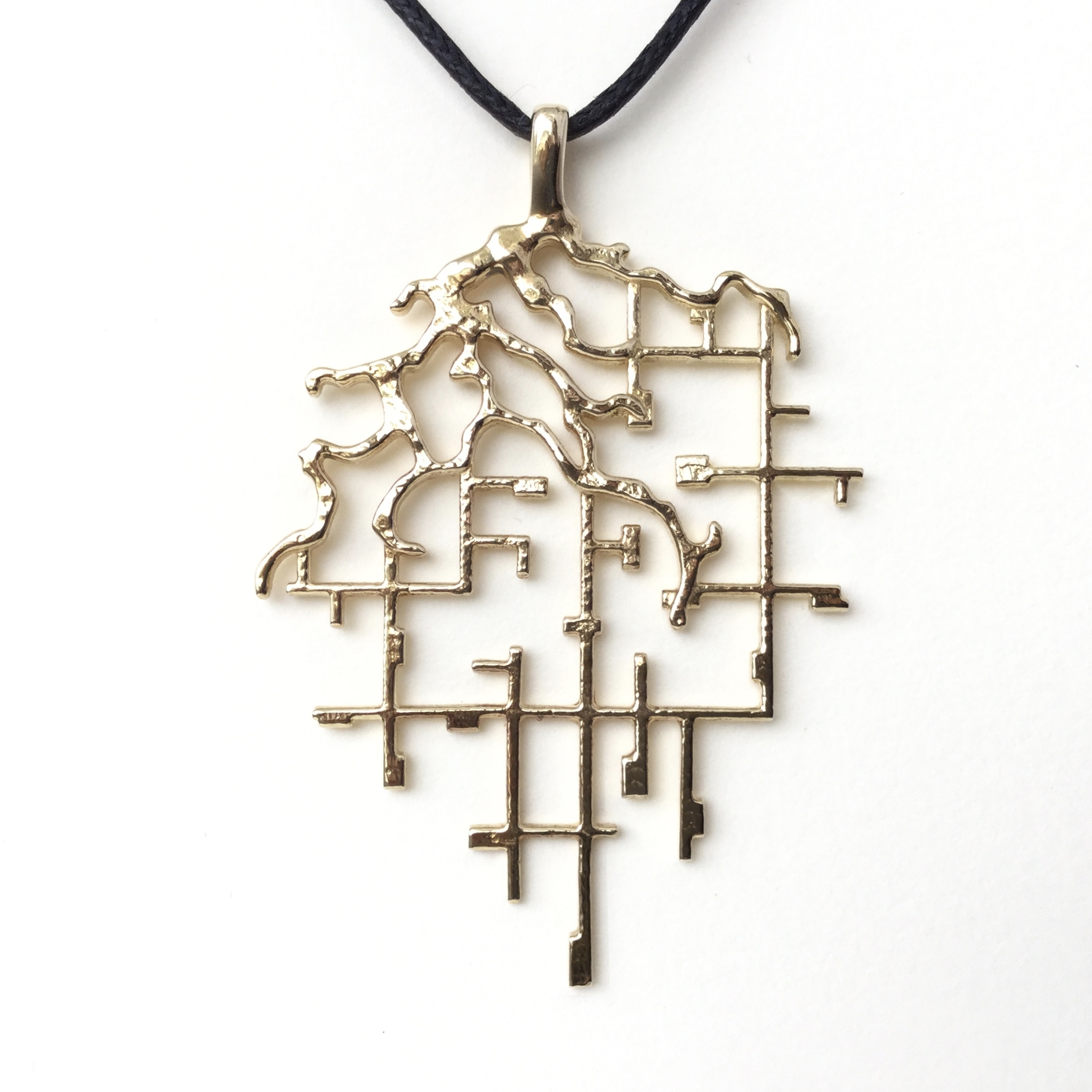Belle River Brass Pendant