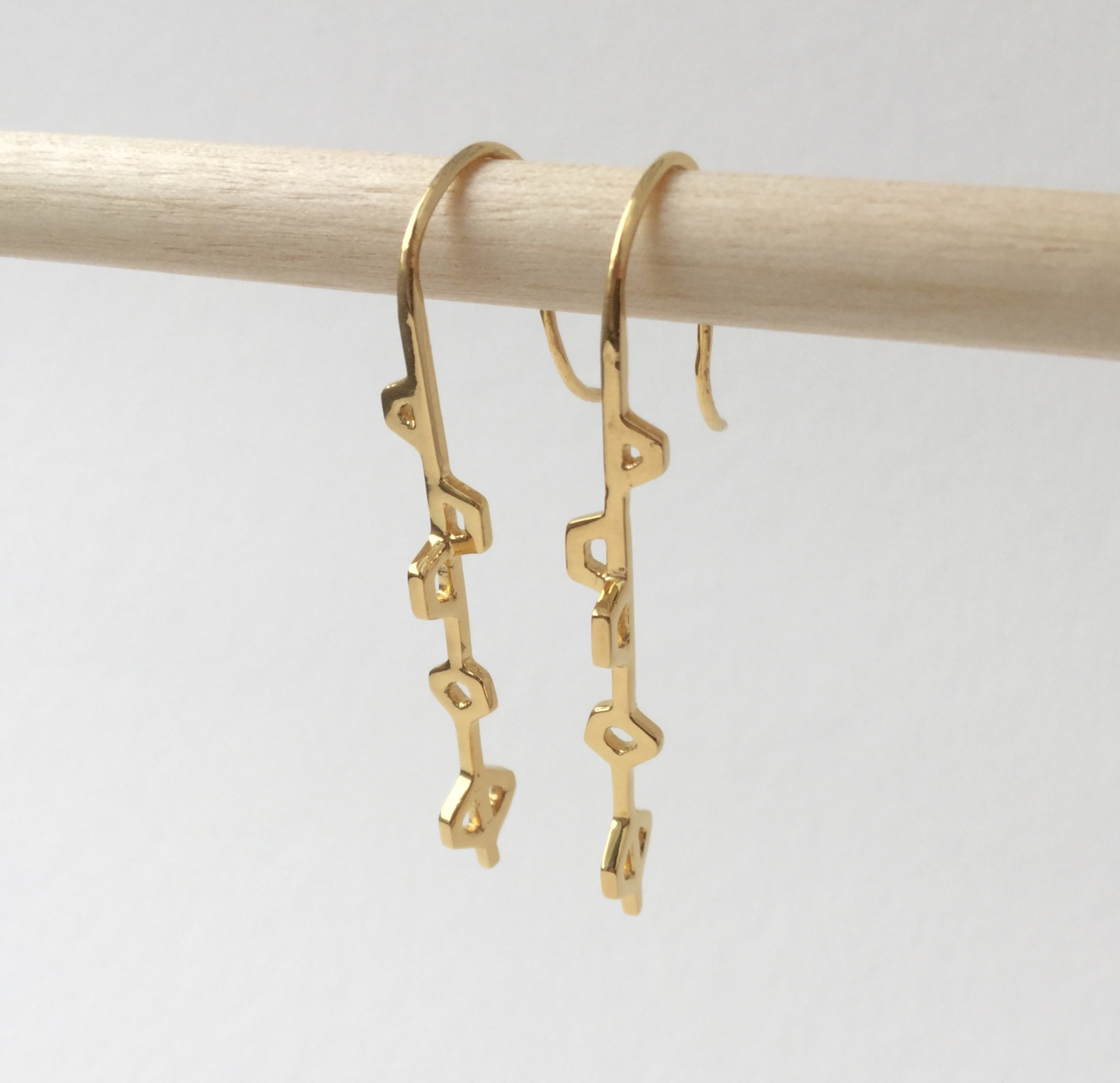 Alma Minimal Gold Plated Earrings