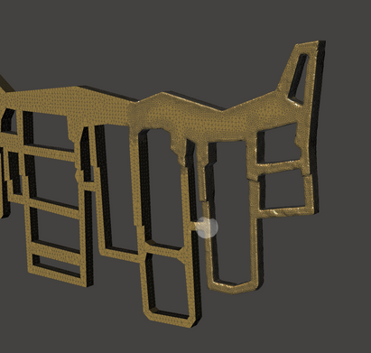 In Meshmixer, I smoothed the sharp edges using the refine brush.