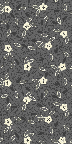 Ditsy Buttons, Gray