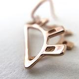Detail of Doha Map Earrings in rose gold