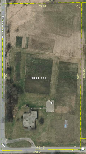 I was able to get a good aerial view of the lot and building with measurements on the county plat site.