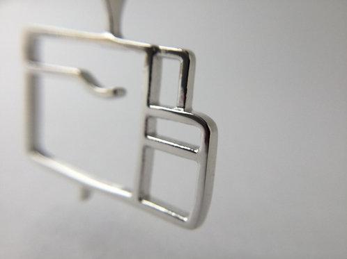 Silver Hippo Pendant