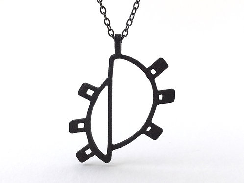 Wanderlust jewelry in black steel